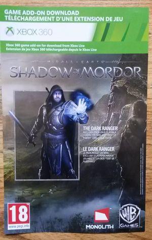 La Terra Di Mezzo L'ombra Di Mordor Ranger Oscuro Xbox 360 NUOVO - Foto 3