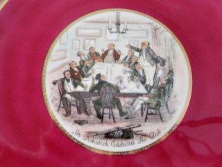 Piatto antico porcellana J.K. DECOR CARLSBAD serie MR. PICKWICK - Foto 3