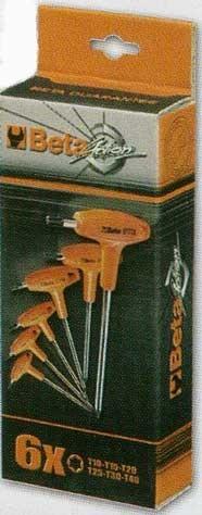 Serie di 6 chiavi maschio Beta 97TTX S6 - Cardelli