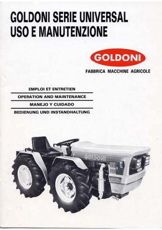 Manuale uso e manutenzione trattori Goldoni serie Universal 230 233 236 238 240