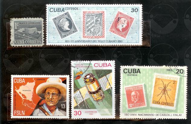 CUBA 1952-1987 Lotto francobolli usati