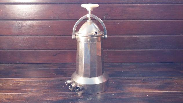 V340 caffettiera riuso da collezione  a vapore inox