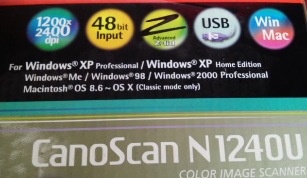 Scanner canon CanoScan N124OU scannerizzatore x windows XP 98 ME 2000 - Foto 2