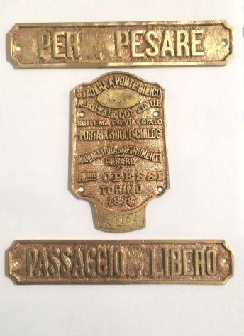 Rare targhe da collezione anno 1888