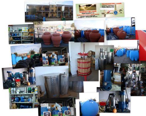 Serbatoi,polietilene,elettropompe,irrigazione