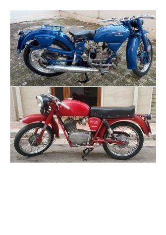 Moto Guzzi (BLU colore originale) Airone 250 + Stornello 125