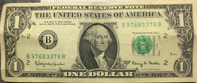 Banconota 1 Dollaro anno 1963
