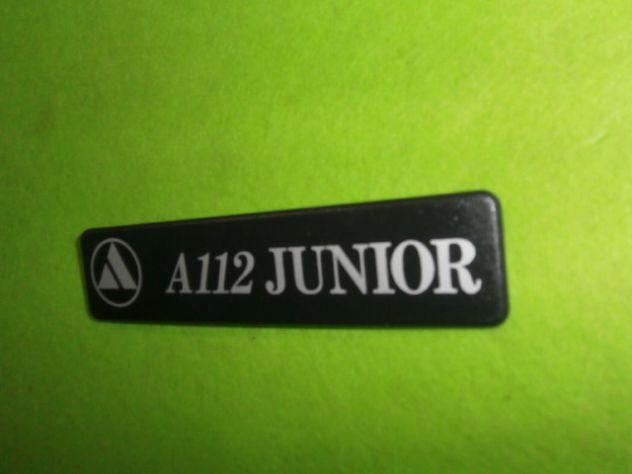 Logo targhetta posteriore Autobianchi a112 Junior 6a serie (1983>) NUOVA - Foto 3