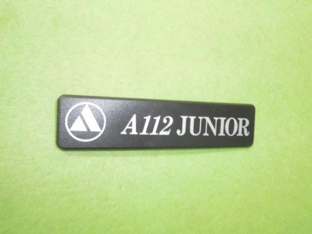 Logo targhetta posteriore Autobianchi a112 Junior 6a serie (1983>) NUOVA - Foto 4
