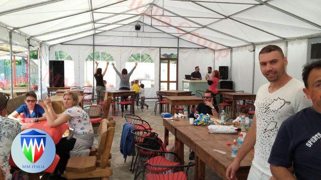 Tendoni per eventi , Bar, Ristoranti, Catering 5 x 8 x 2,6 mt. pvc 550 Ignifugo - Foto 9
