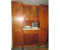 Credenza Rustica In Legno : Credenza in legno massello stile rustico con doppia angoliera
