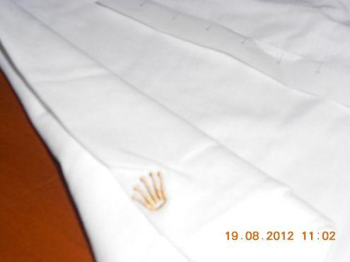 Polo ROLEX Golf Shirt White Mens Size XL VIP NEW RARE - Polo Rolex Bianca XL - Foto 3