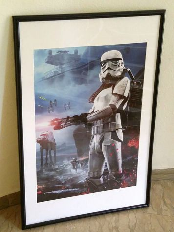 Star Wars Stormtrooper Poster cm.50x70 con la cornice nuovo