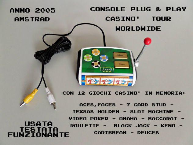 Plug & Play console 12 giochi Casinò in memoria (Amstrad) anno 2005