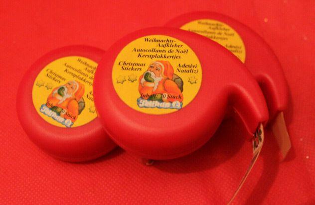 Lotto 3 dispenser adesivi sticker ferma pacco regalo natalizi Pelikan