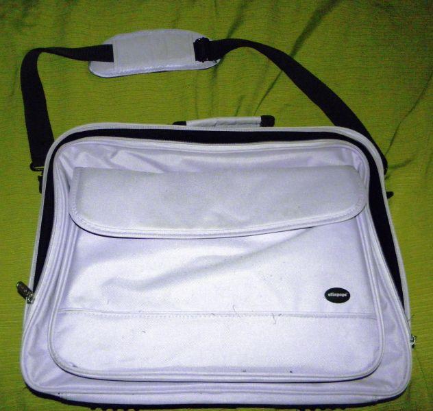 Tracolla per portatile unisex Oliepops lilla e nera