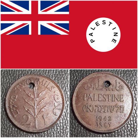 Palestina 2 mils, 1942, Periodo Mandato britannico (1927-1948).