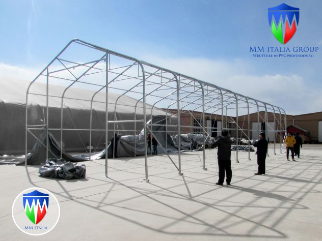 Tendoni Coperture Mobili  Professionali 8 x 20  x 5,50 pvc Ignifugo - Foto 5