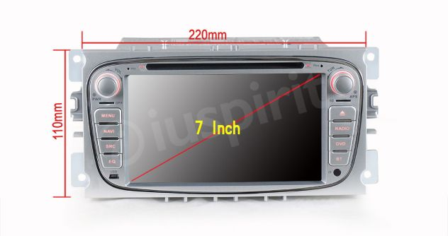 GPS DVD BT autoradio 2 DIN navigatore Ford Focus Mondeo C-Max Galaxy - Foto 5