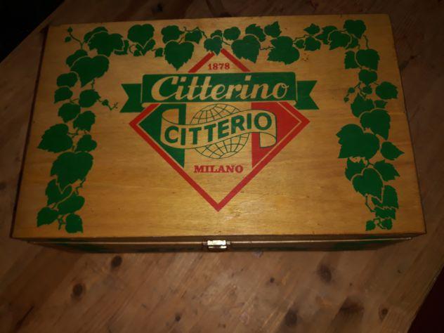 Cassa/cassetta in legno citterino-citterio vintage