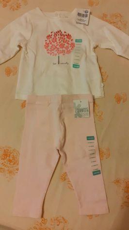 Pantaloni bimba e maglietta 6 mesi nuovi