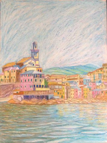 Quadro su tela pittore Gualberto Maragliano