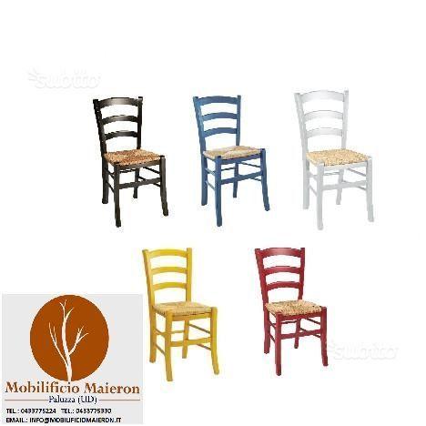 Sedie ristorante pub cod 3011/P Colorate nuove