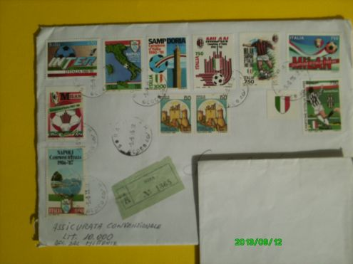 FRANCOBOLLI ITALIA CAMPIONI D 'ITALIA CALCIO serie A - 1986 1995