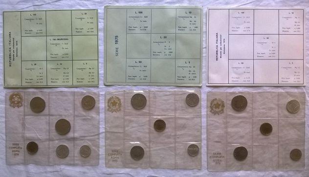 ( G&B ) Monete: Lotto 3 divisionali 74/75/76