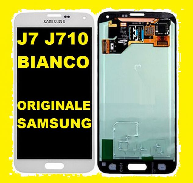 DISPLAY LCD + TOUCH SCREEN ORIGINALE SAMSUNG GALAXY J7 2016 J710