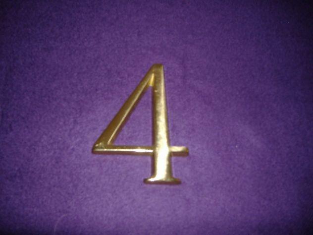 numeri civici in fusione di ottone - Foto 2