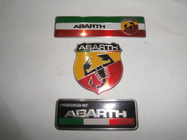 Targhette loghi scritte abarth  Fiat Autobianchi NUOVI