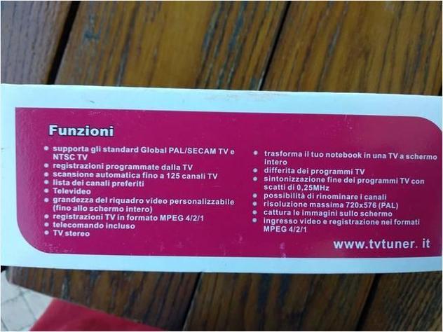 Notebook Scheda Di Sintonizzazione Tv Nuovo