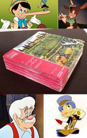 Le avventure di Pinocchio, FIABE SONORE, dischi a 45 giri collana completa.