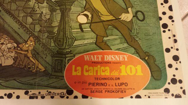 LOCANDINA ORIGINALE!!!! 1970  WALT DISNEY LA CARICA DEI 101