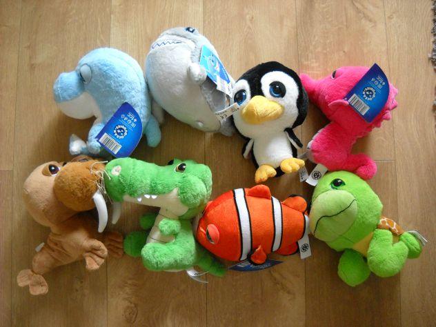 Peluches coop 8 amici dell'oceano acquamici NUOVI