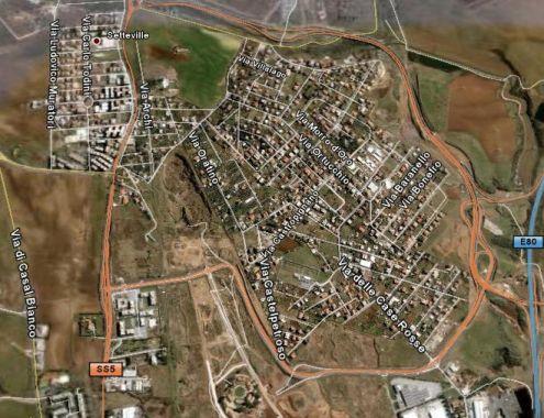 roma case rosse terreno edif. 1100 mq. ind. 0,60mc mq