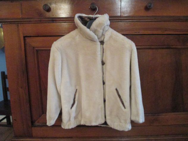 Giaccone pelliccia ecologica tg.10-12 anni