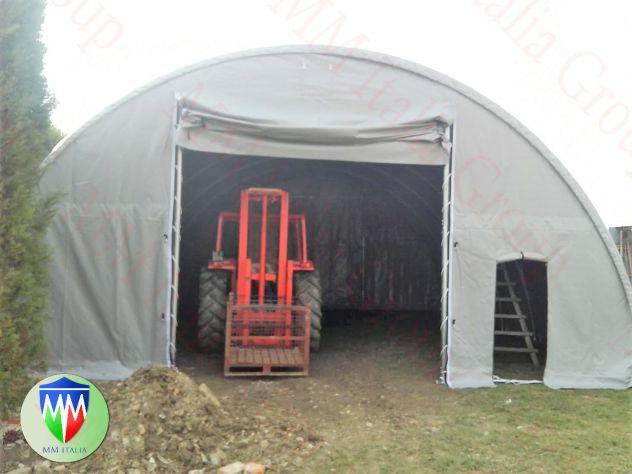 Tunnel per ricovero attrezzi agricoli, fieno, senza permessi  9,15 x 20 mt. prof