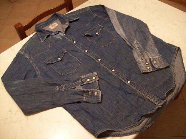 half off 7bdcb c8c72 Camicia jeans Levis mis XL col Blu'scuro