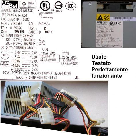 Alimentatore IBM API4PC51  24R2585 24R2584 Originale P/N: 24R2585 CRU: - Foto 2