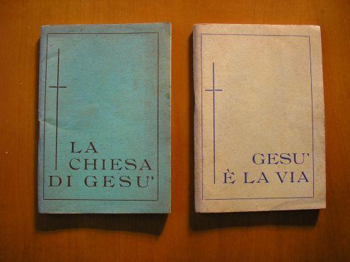 Coppia libretti cultura religiosa anni 1954/1957