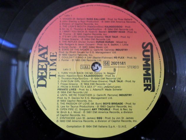 DEE JAY TIME - Summer Mixed Compilation - LP / 33 giri 1984 - Foto 4