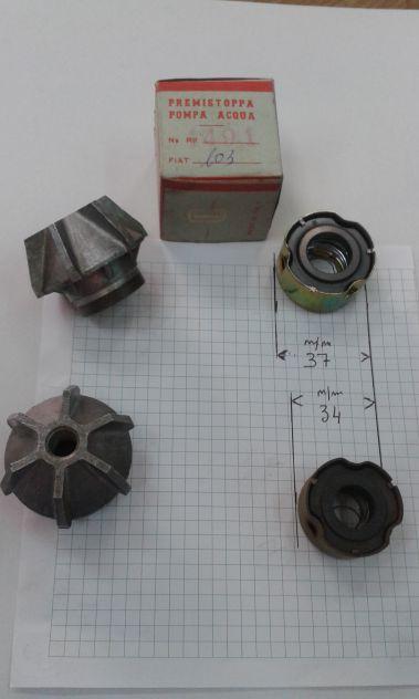 Revisione pompa acqua Fiat 600, 600 D, Fiat 850, Fiat 1100 103 D H, Fiat 615 - Foto 4