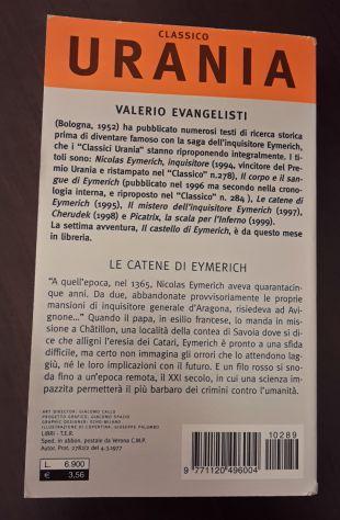 LE CATENE DI EYMERICH, VALERIO EVANGELISTI, CLASSICO URANIA 289, 1^ Ed. 2001. - Foto 3