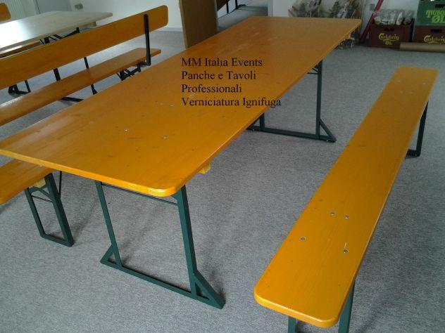 Vendita Tavoli E Panche Per Birreria.10 Set Birreria Panche E Tavoli Pieghevoili 220 X 80 Ignifughi Annunci Milano