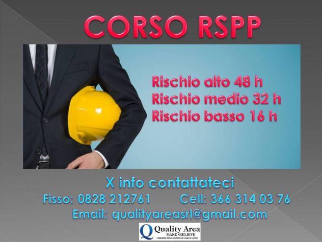 Corso di formazione RSPP - IN TUTTA ITALIA