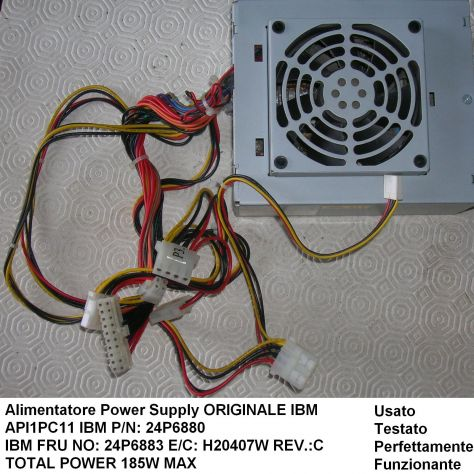 Alimentatore ACBEL API1PC11 24P6880 24P6883 IBM Originale IBM P/N: 24P - Foto 3