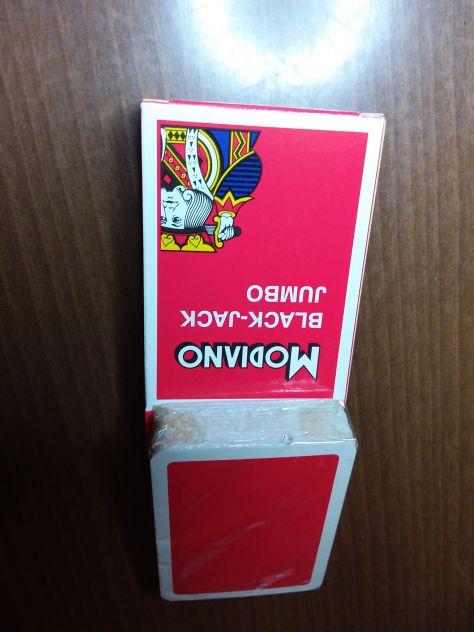 Mazzo di 54 Carte Modiano Back Jach -  NUOVO - Sigillato