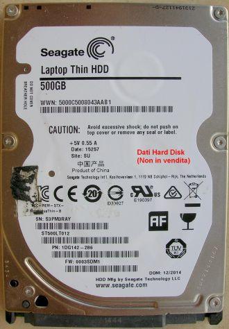 PCB Hard Disk Seagate laptop Thin HDD 500GB SATA 2,5 Dati della scheda logica (i - Foto 3